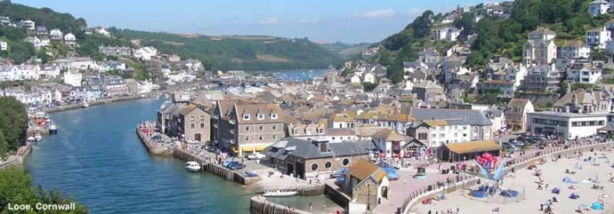 Arial View of Looe