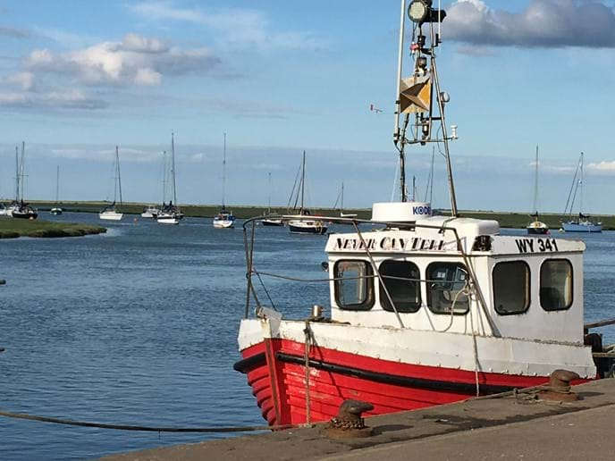 Tide in at Wells Harbour