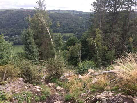 Climbing up to Llyn Crafnant