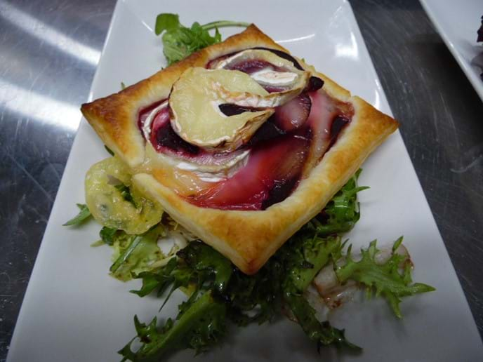 Goats Cheese and Beetroot Tart.