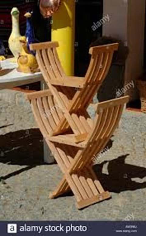 Monchique Chestnut Scissor chairs