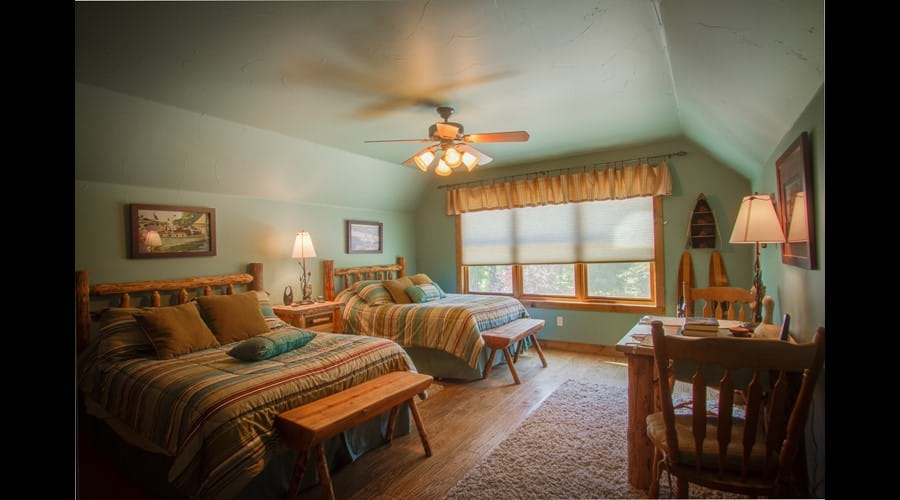 """Large """"Lady of the Lake"""" room with 2 full beds"""