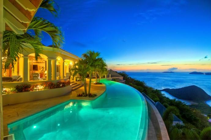 Celestial's Pool Deck and onward views Long Bay Beach and beyond