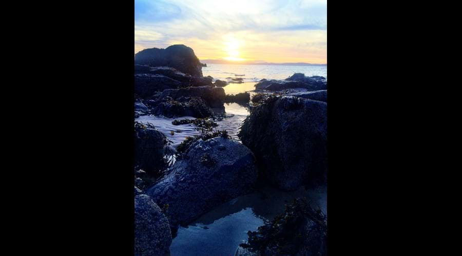 Blackwaterfoot beach sunset