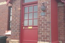 front door of self catering accommodation in Fort William