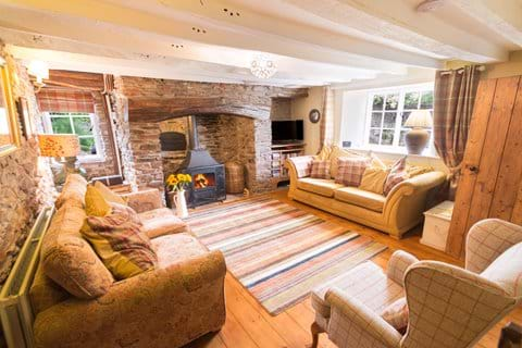 A Devon country cottage cosy lounge