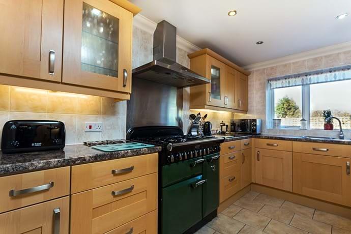 Rangemaster cooker in kitchen