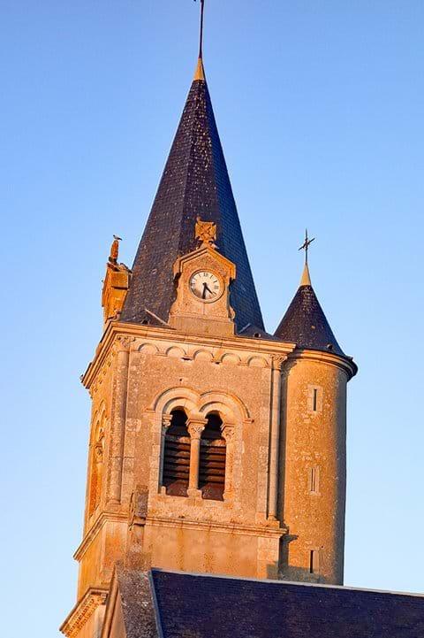 The church tower in Mesves-sur-Loire