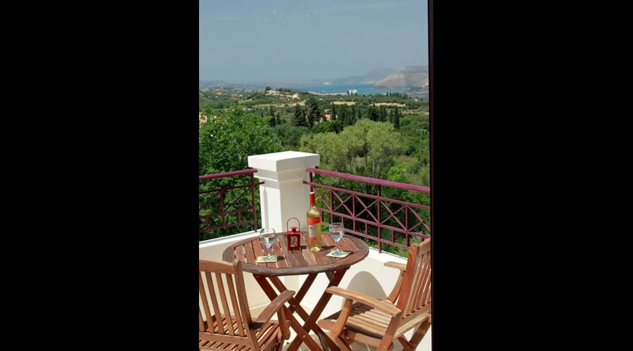 From the balcony there is a splendid view of Argostoli harbour where cruise ships dock.