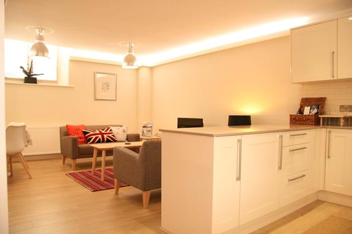 Open plan layout, perfect for friends and family.