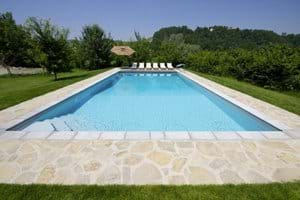 Pool at shallow end 0.9m