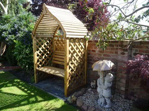 Sunny cottage garden