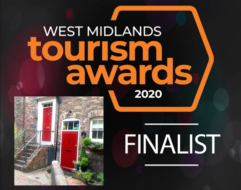 FINALISTS FOR BEST SELF- CATERING IN THE WEST MIDLANDS 2020