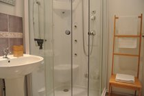 One of the two shower rooms