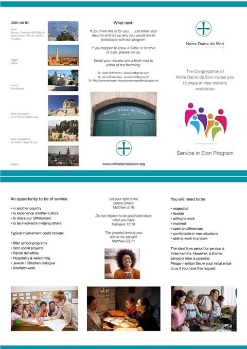 Service in Sion - GO TO PAGE ON (Menu bar)