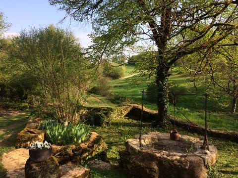 Views out across the Dordogne valley from the luxury self catering gite rentals