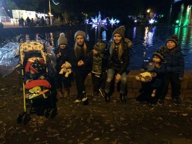 Meeting friends at the Sunderland Illuminations
