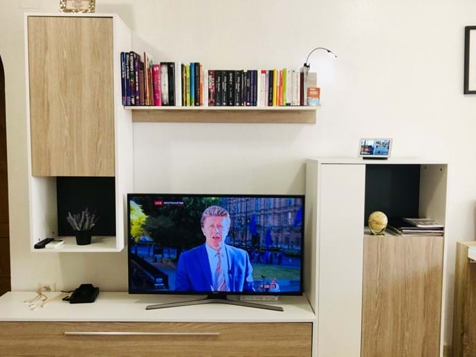 Holiday apartment - living room: premium IPTV HD channels and library