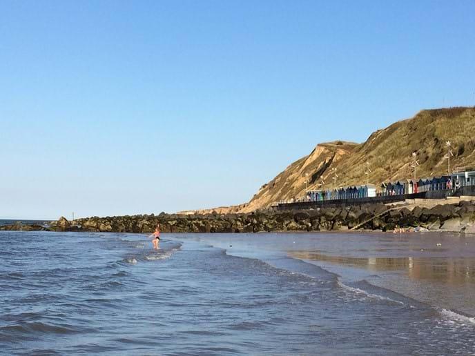 Sherringham beach at low tide