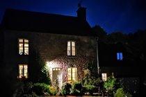 Farmhouse & Gables at night