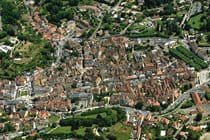 Aerial view of the medieval city