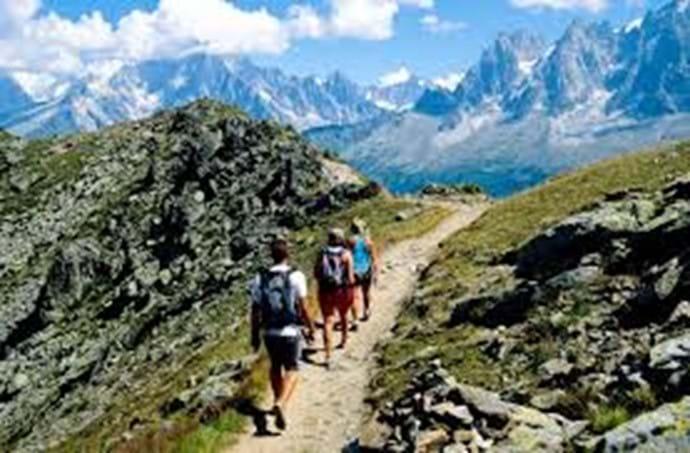 Walking in Chamonix