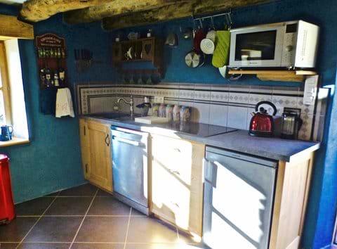 Handmade artisanal kitchen in local chestnut wood