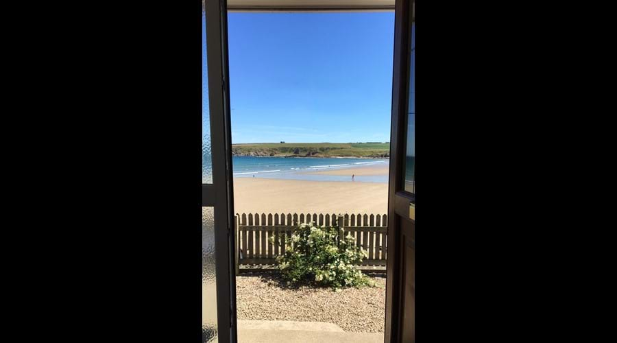 The beach is right outside your front door