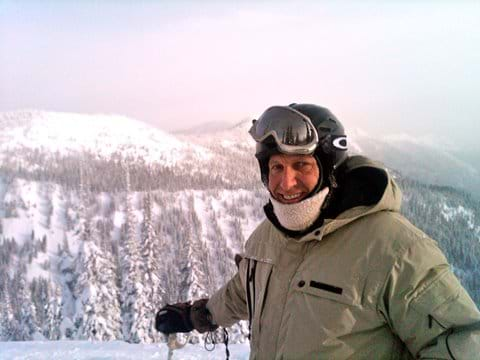 Christian enjoying skiing at Whitefish