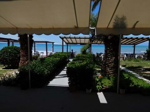 Beach side taverna in Agios Stefanos
