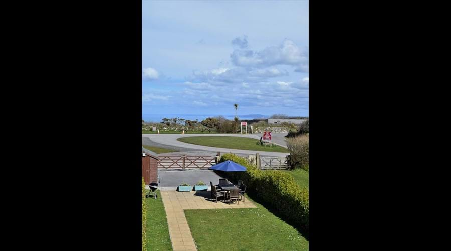 Garden & sea views from bedroom B
