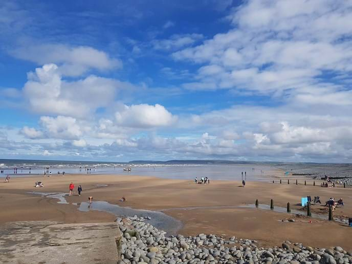 The beach at Westward Ho!