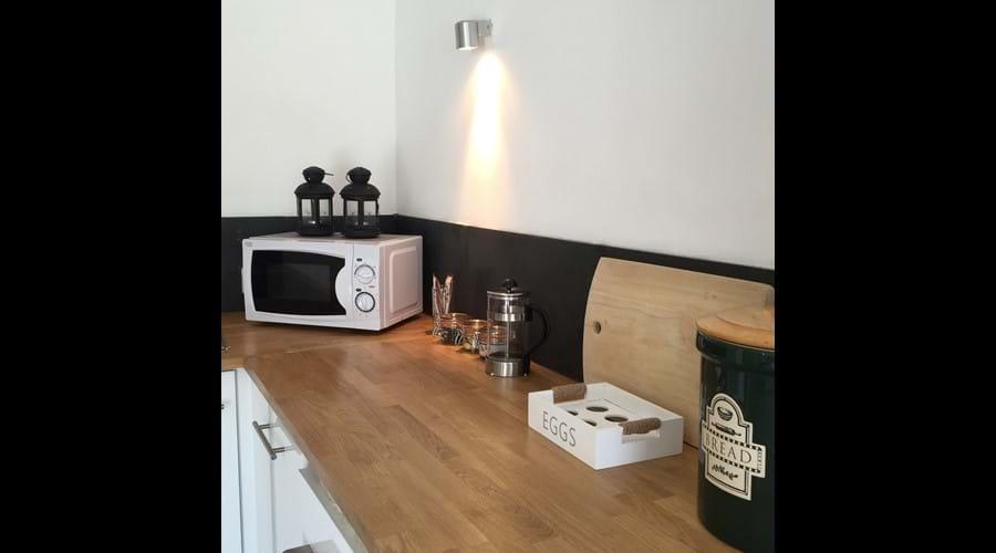 The Shippon kitchen area
