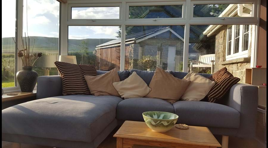 Enjoy stunning views from the conservatory