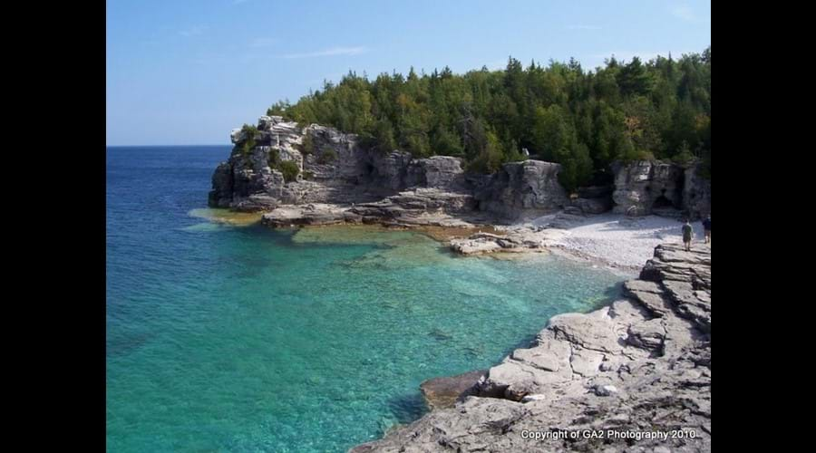 The Grotto on Georgian Bay in the Bruce Peninsula National Park is one of the favorite destination for visitors to the cottage.