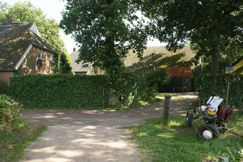 Enough parking space at the rear of the farmhouse