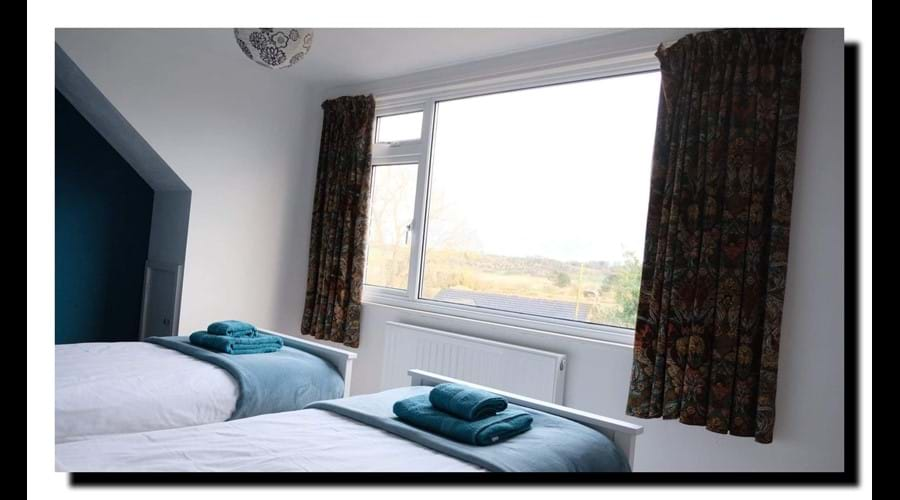 Twin room with view across to Horseshoe Bend