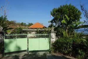 Entrance gate to the villa