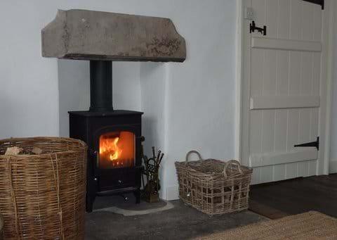 Log-burner in the lounge