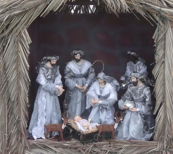 Dec 2015 - The Skopelos Town Nativity scene complete with reindeer.