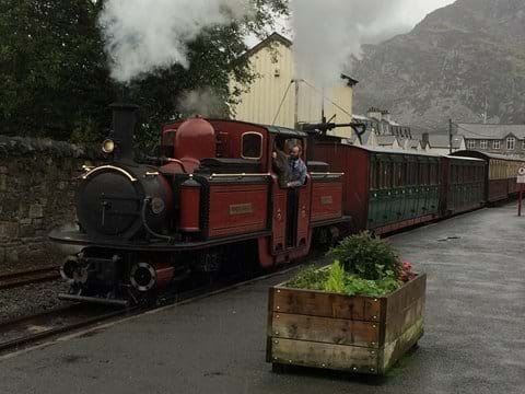 One of the great little steam trains. This one is at  Blaenau Ffestiniog
