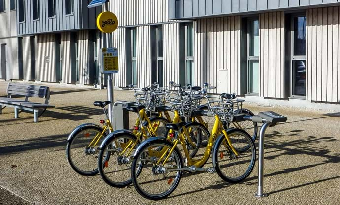 Bikes for Hire in La Rochelle Marina area