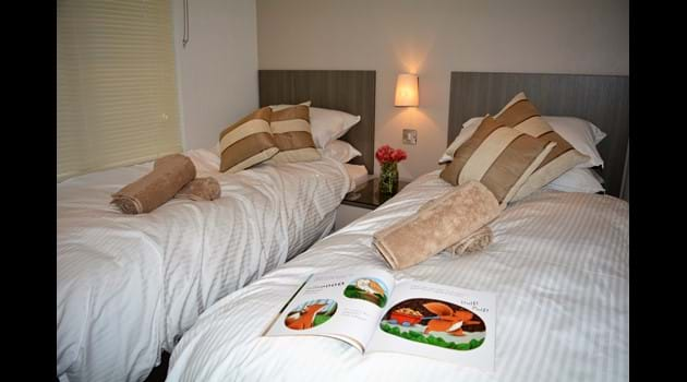Twin Bedroom with full size beds