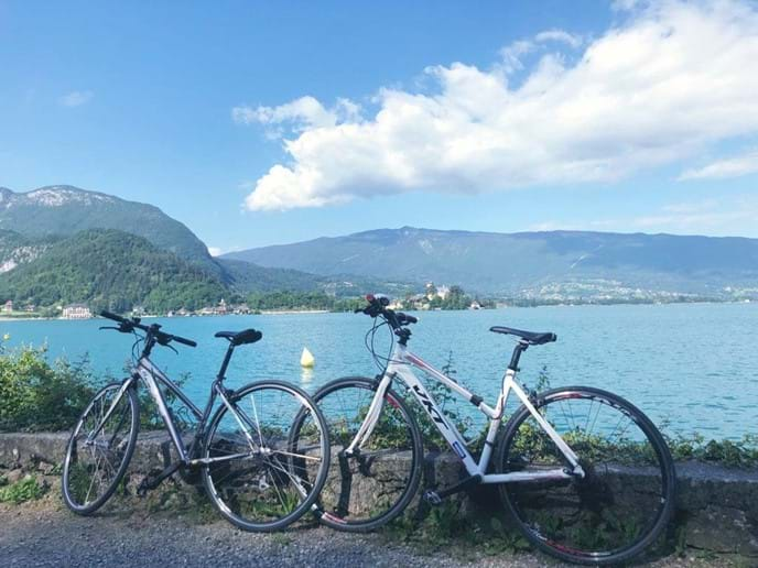 My Sweet Home bike rides around Annecy lake