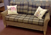 Wicker sofa with a wide choice of seat cushions