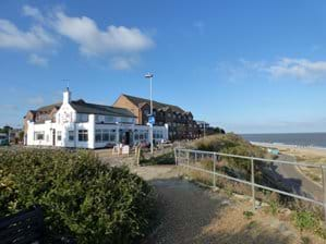 The Jolly Sailors pub and restaurant - 800 yards north of Pebble Cottage