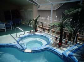Large spa which can be heated if required