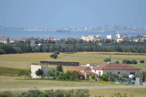 Balcony view over Larnaca bay