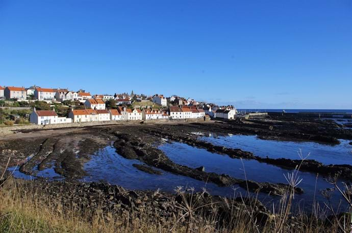 View of Pittenweem from nearby coastal path
