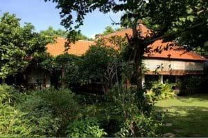 Het huis,  gezien vanuit de tuin